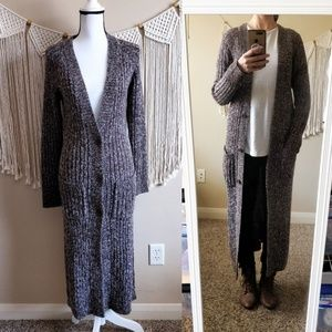 Body by Victoria Chunky Knit Duster Cardigan Brown
